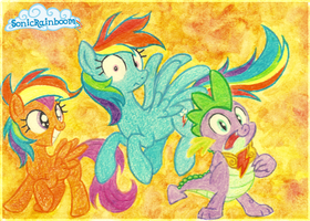 Rainbow Dashes everywhere! by SonicRainboomZ