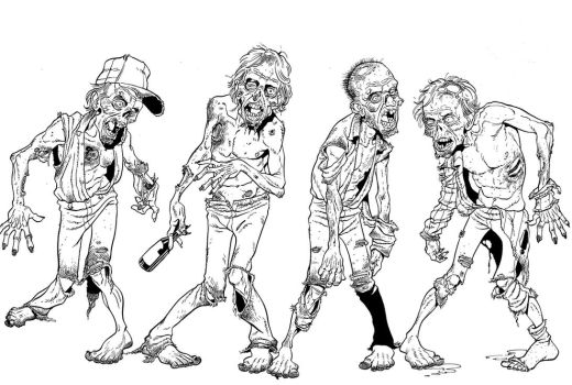 ZOMBIES by angryrooster