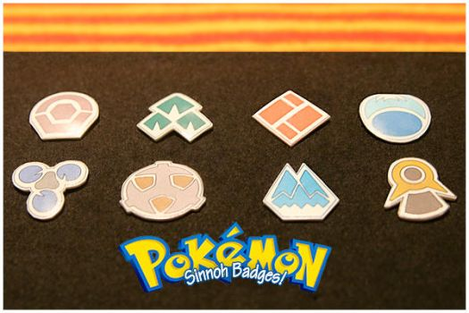PKMN: Sinnoh Gym Badges by adrawer4ever