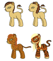 NEW BREED! Pony-cats (Selling these, read plz) by KarmaDash