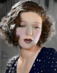 REVISED Movie Actress Loretta Young, Hand Colored by Miko2660