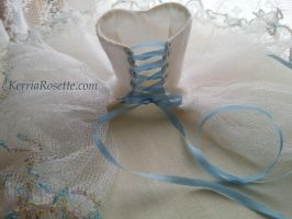 MIO Dress with Blue Silk Ribbon by KerriaRosette