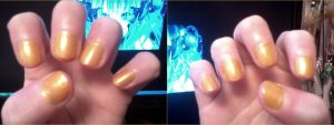 Golden Nails by AnimeOCD1323