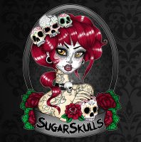 SugarSkulls Store Logo by Miss-Cherry-Martini