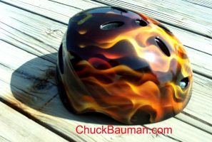 Bike Skate Helmet Flames by crb1177