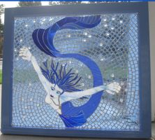 Aquarella Mosaic Window by reflectionsshattered