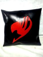 sinthetic leather Fairy Tail logo pillow by SozoPw