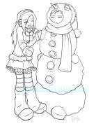 frosty the snowman by vorpalbunny