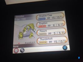 Shiny groudon for sale (hacked) by alucardserasfangirl