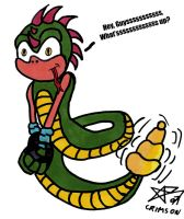Sonic Style Snake by Crimson-Werecat