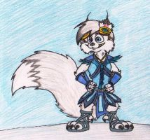 Snowfur, white-furred ringleader by JacobMace