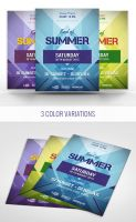 Free PSD Geometric Flyer Template by Designslots