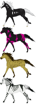 Horse adopts set 05 OPEN by Adopt-A-Shaddix