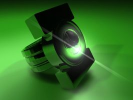 Green Lantern Ring. by BustedFluxcapacitor