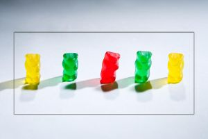 Gummy Bears just 4 row by photoboy1002001