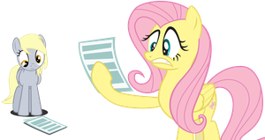 Derpy and Fluttershy reading by MuffinName