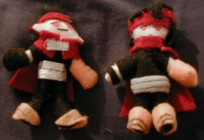 FF7 Vincents - mascot plushies by cideon