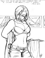 Power Girl: Getting Ready by AdamWithers