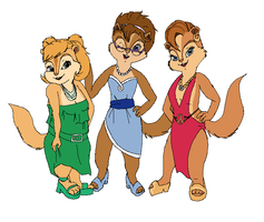 Adult Chipettes by ShazTheRaz