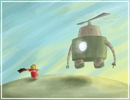 Robot 12 - The Heli-bot by torsoboyprints