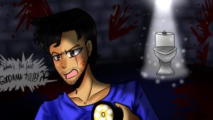 .:Markiplier Plays:. Toilet Escape - {FanArt} by LenoraChan