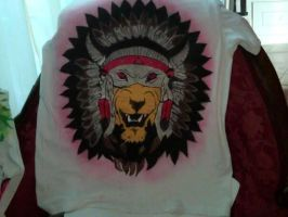 airbrush tribal lion pic by trifegclothing