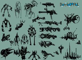 Doodles and Concepts by BombOPAUL