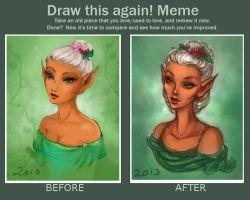 Before and after: Savah by Elf-in-mirror