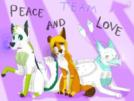 RQ: Peace And Love Team :D by wolfwing44