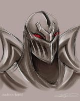 League of Legends - Zed Portrait Sketch by ambivartence