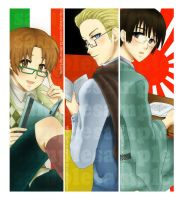 Hetalia: Axis bookmarks by sakuyasworld