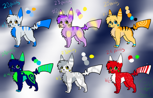 Pikachu Adoptables -SOLD- by Porygoon