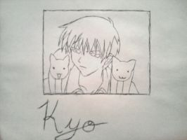Kyo with Cats by sasukeissohot97