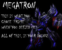 Fall Of Cybertron Megatron Wallpaper by Lordstrscream94