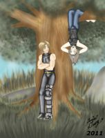 K4-Vin and Anna-Hanging Around by MaskedSugarGirl