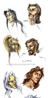 DL and FR characters by ILLanthan