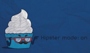 Hipster cupcake by Maybrum