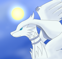 Reshiram Headshot by Zorokra