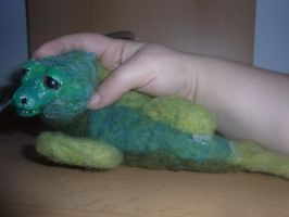 Nepomuk the posable water dragon doll FINISHED by ArcticIceWolf