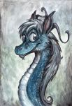 Headshot of a Dragoness by Lupuna