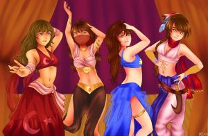 Beautiful Belly Dancers by MikaAndKuri