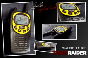 Tomb Raider (2013): Lara's Walkie Talkie by JillaValentina