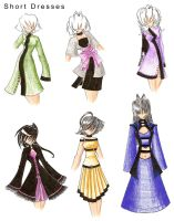 short dresses colored by dreamangelkristi