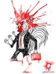 busy rooster (shirt graphic) by GLoeNn
