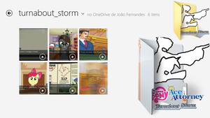 Turnabout Storm Folder Icon (Windows 7/8.x) by rcmero