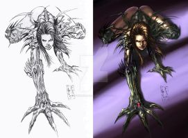 Witchblade crawling by Alex by IvannaMatilla
