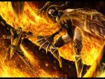 Scorpion VS Kitana by Smexyheroes
