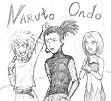 Naruto Ondo Sketch by HolliGenet