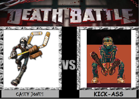 Death Battle Casey Jones vs Kick As# by Gatlinggundemon9