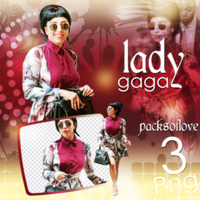 PNG PACK (80) Lady Gaga by DenizBas